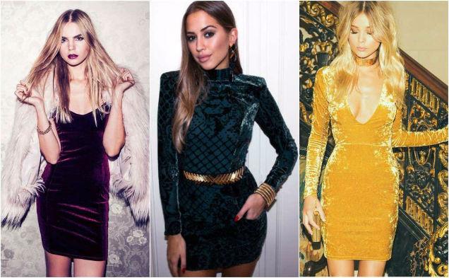 Velvet Fabric Year Round Body Con Dresses-w636-h600