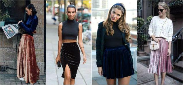 Velvet Fabric Year Round Skirts-w636-h600