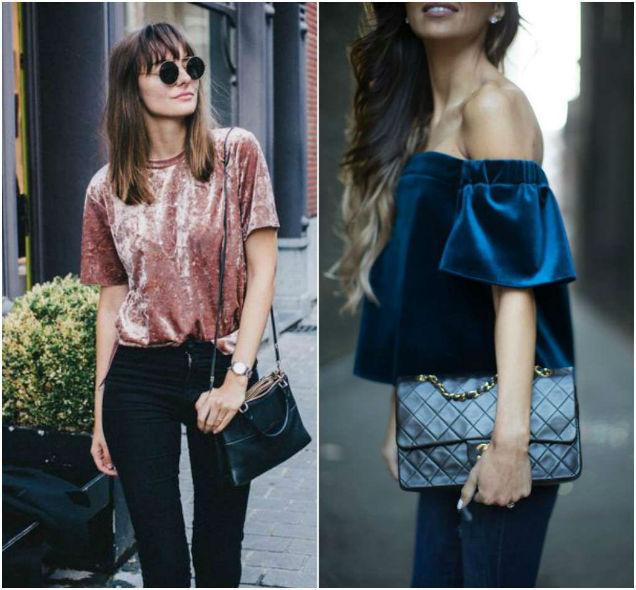Velvet Fabric Year Round Tops-w636-h600