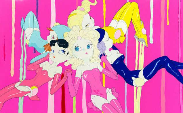 Yoshitaka Amano Candy Girl Gang-w636-h600