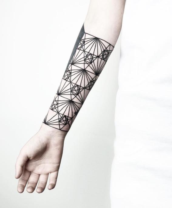 ante disenos de tatuajes geometricos