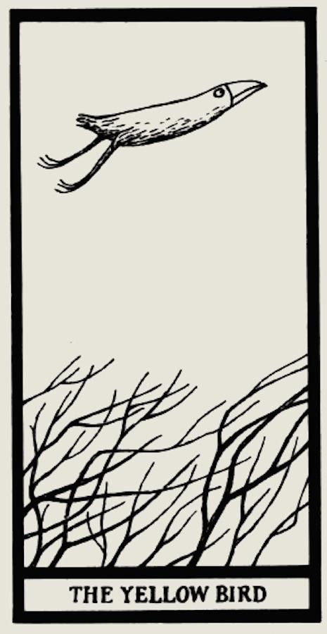 ave amarilla edward gorey tarot