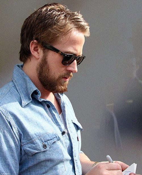 barba lentes look de ryan gosling