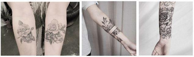 beauty femininity self-confidence roses tattoos arms-w636-h600