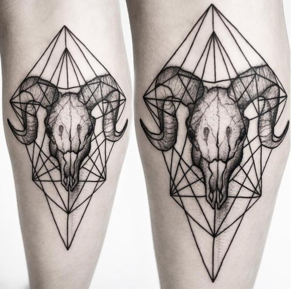 carnero disenos de tatuajes geometricos