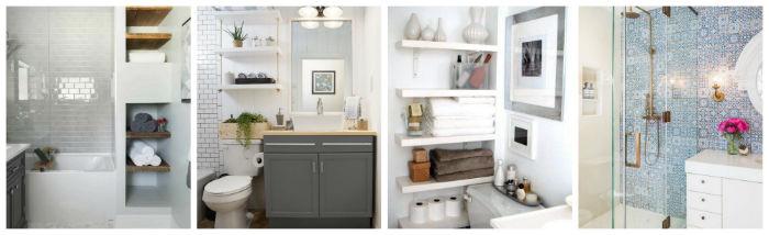 24 ideas para decorar y organizar tu ba o si es peque o - Como distribuir un bano pequeno ...