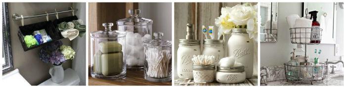 24 ideas para decorar y organizar tu ba o si es peque o - Como decorar un bano pequeno ...
