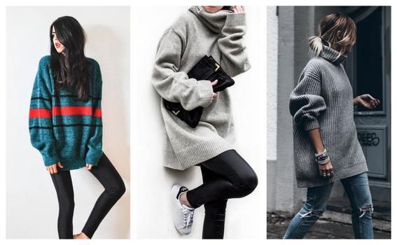 como utilizar prendas oversize sweater