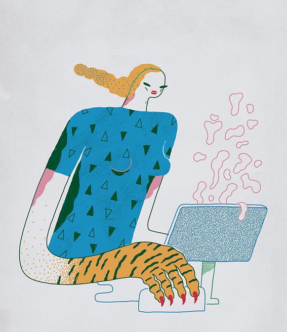 compu ilustraciones sarcasticas