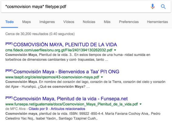 cosmovision maya busquedas de google