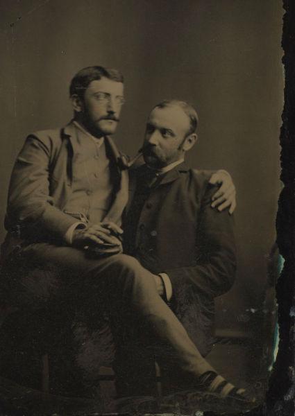 foto vintage hombres lentes