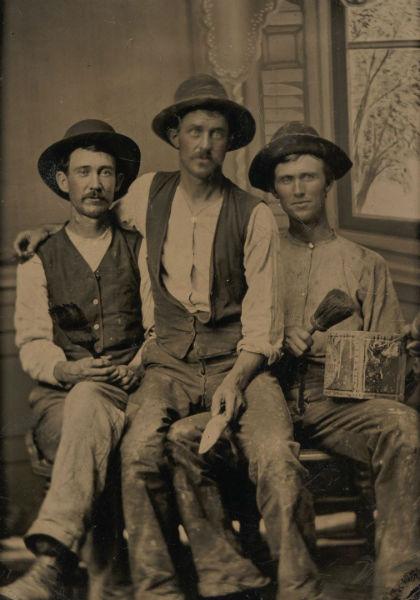foto vintage hombres tres