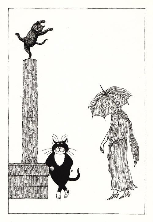 gatos Edward Gorey