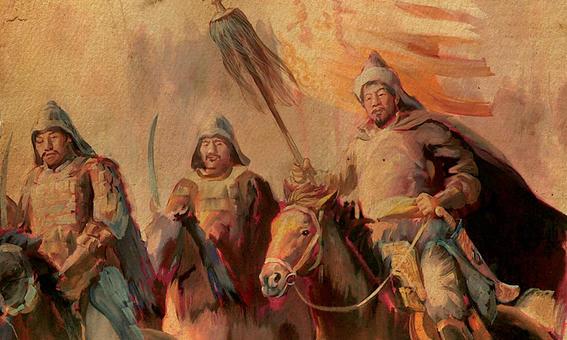 imperio mongol pintura
