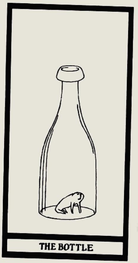 la botella edward gorey tarot