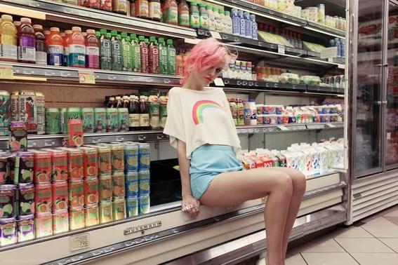 look de tendencia supermercado