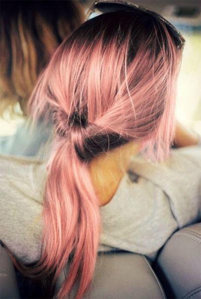messy hair blorange sombre
