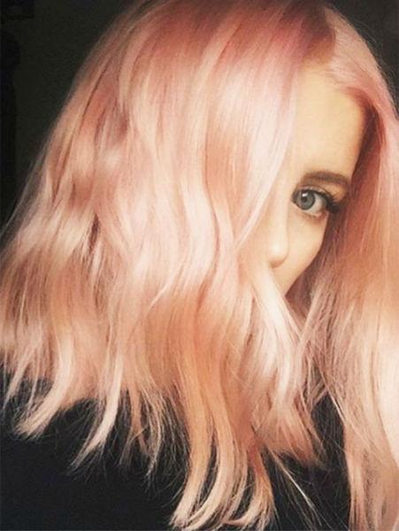 messy hair blorange