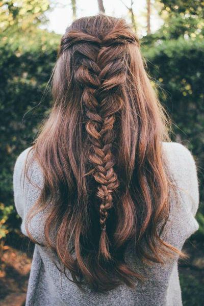 messy hair fishtail