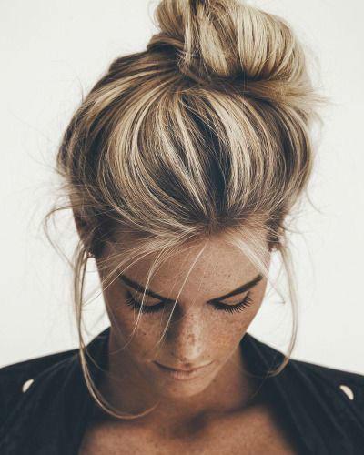 messy hair ombre bun