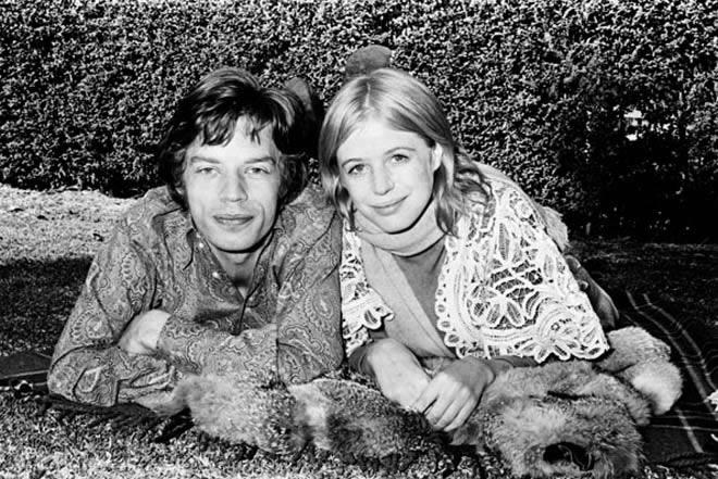 mick Mick Jagger y Marianne Faithfull
