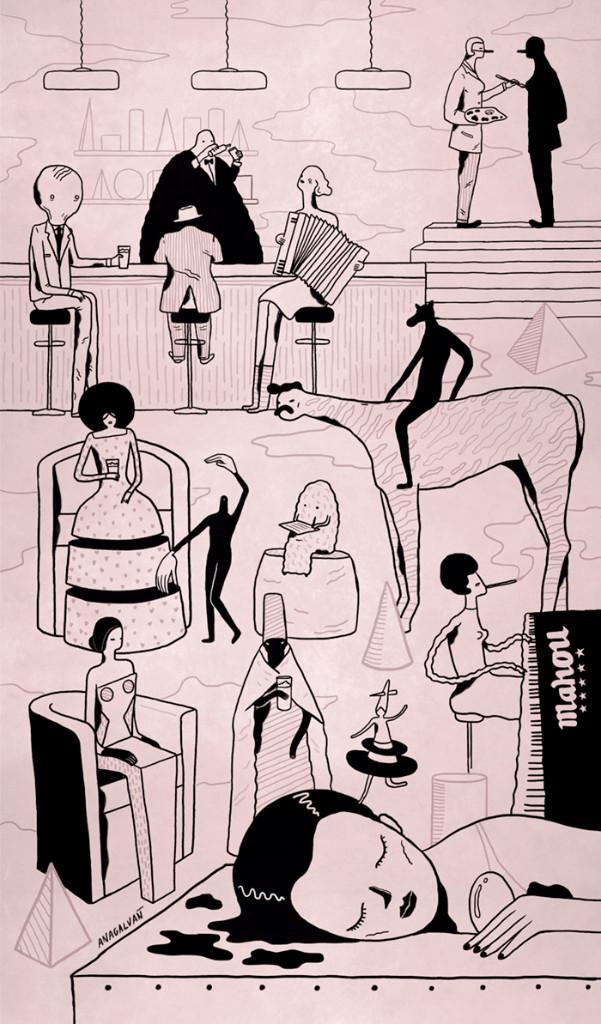 multitud-ilustraciones-sarcasticas