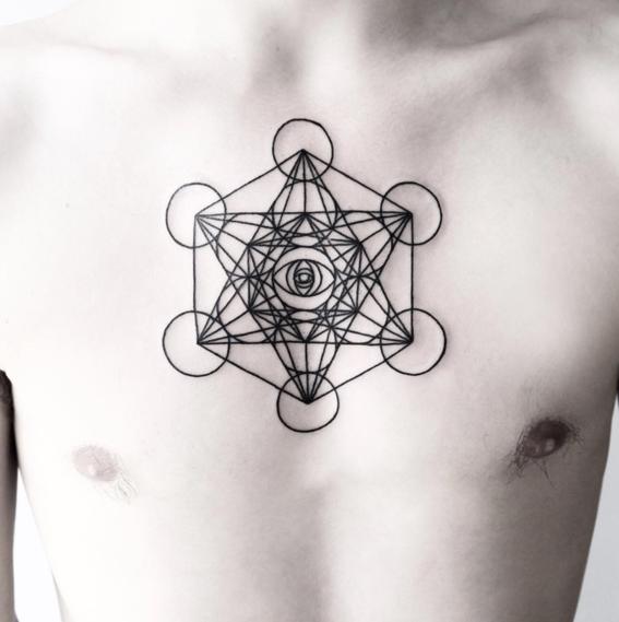ojos disenos de tatuajes geometricos