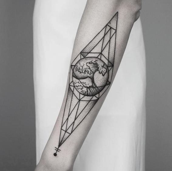 olas disenos de tatuajes geometricos