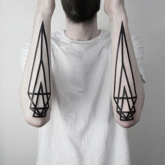 par disenos de tatuajes geometricos