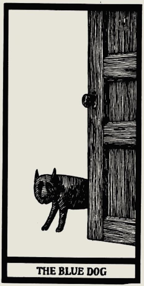 perro  triste edward gorey tarot