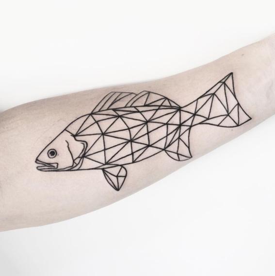 pez disenos de tatuajes geometricos