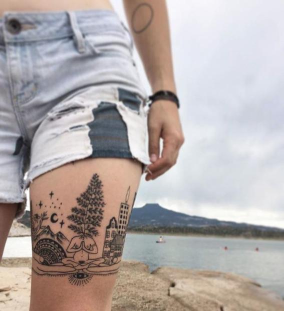 pierna conexion con la naturaleza