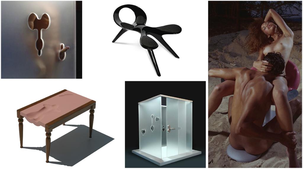 piezas falicas mesa