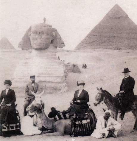 porfirio diaz en burro egipto