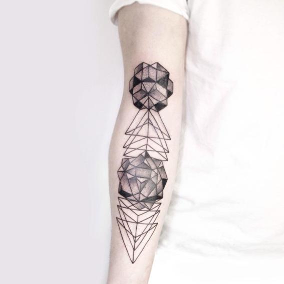 prismas disenos de tatuajes geometricos
