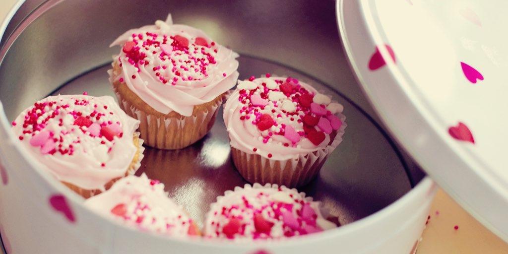 Valentine mini cupcakes