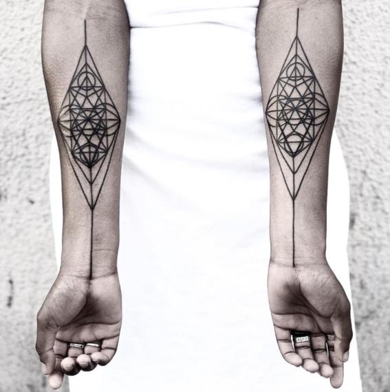 rombos disenos de tatuajes geometricos