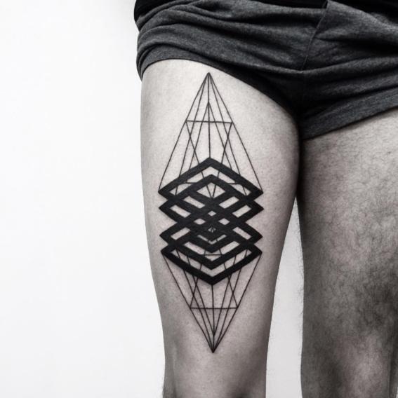 rombos gruesos disenos de tatuajes geometricos