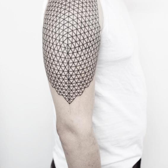 rombos hombro disenos de tatuajes geometricos