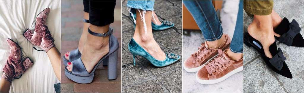ropa de terciopelo zapatos