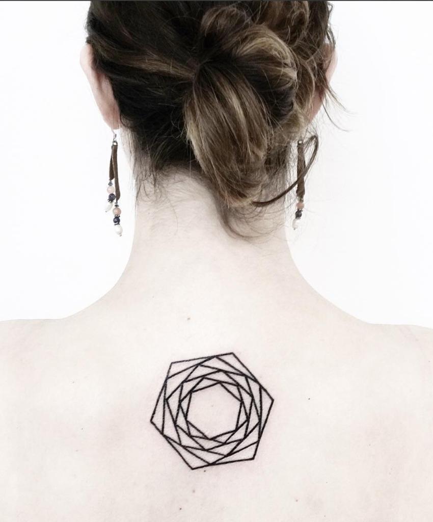 rosa disenos de tatuajes geometricos
