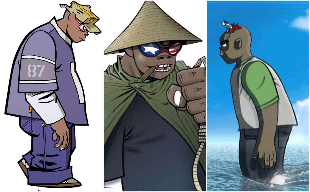 historia de los personajes de gorillaz