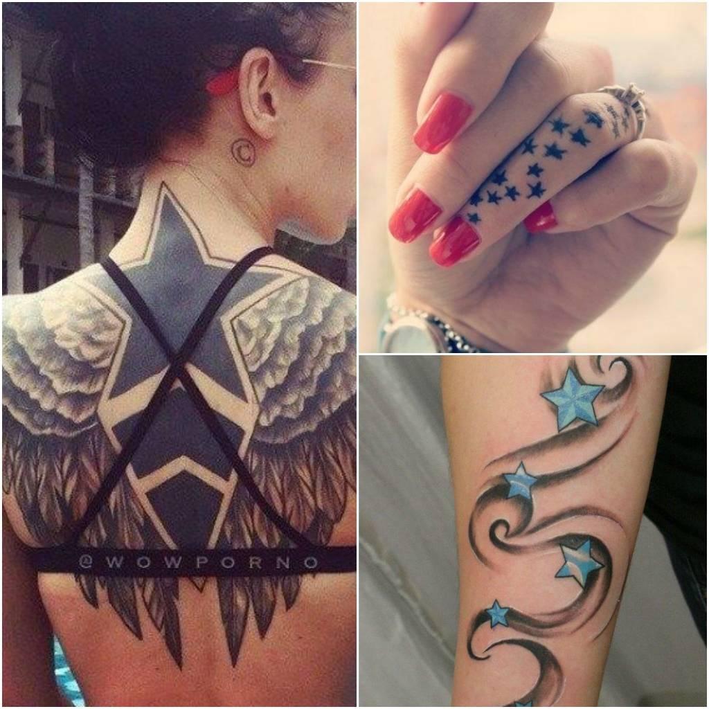 tatuajes de estrellas espalda