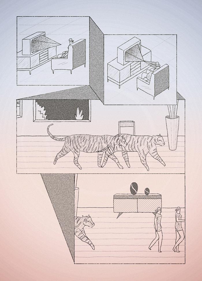 tigres ilustraciones sarcasticas
