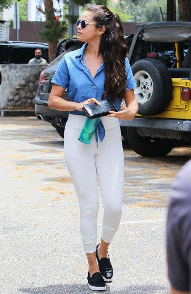 usar correctamente leggings blanco
