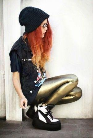 usar correctamente leggings metalico