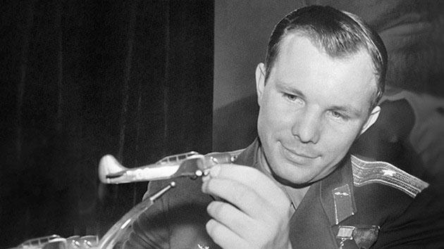 Yuri Gagarin and aircraft