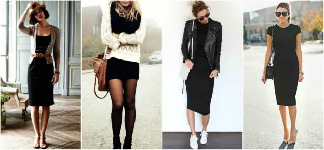 Reusable clothes black dress-w636-h600