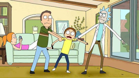 Rick Morty Nihilism livingroom