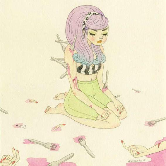 ilustraciones de debilidades humanas sad